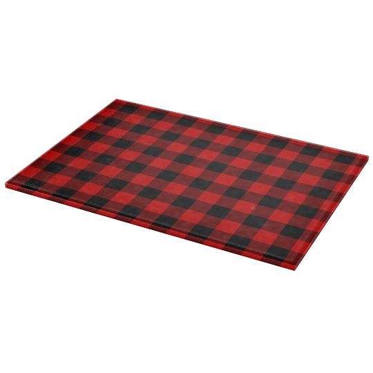 Red Plaid Cutting Boards