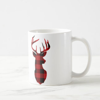 Red Plaid Deer | Mug