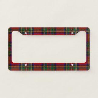 Red Plaid Design License Plate Frame