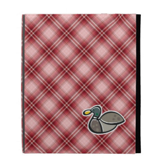 Red Plaid Duck iPad Folio Covers