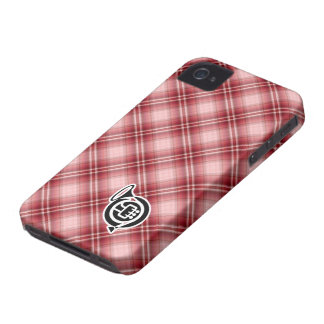 Red Plaid French Horn iPhone 4 Cover