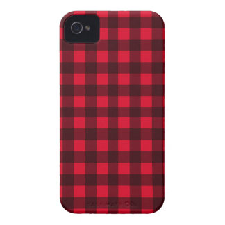 Red plaid pattern iPhone 4 covers