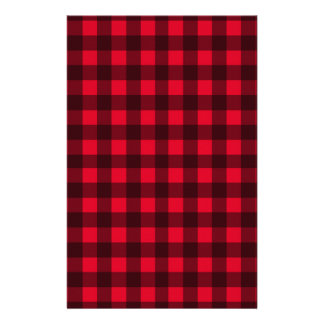Red plaid pattern stationery design