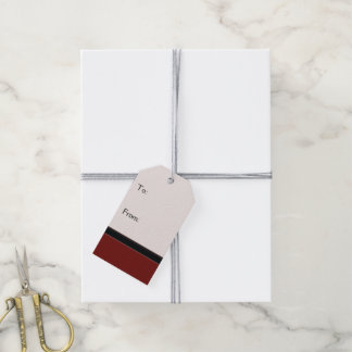 Red Plaid Pattern With Border Gift Tags