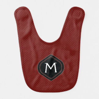 Red Plaid Pattern With Initial Bib