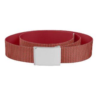 Red Plaid Print Belt