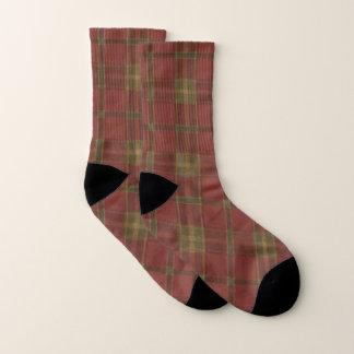 Red Plaid Socks 1