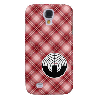 Red Plaid Sport Shooting Galaxy S4 Case