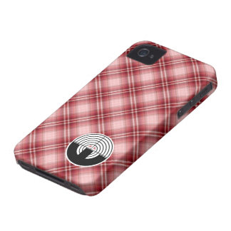 Red Plaid Sport Shooting iPhone 4 Cover
