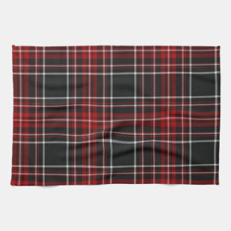 Red Plaid Tartan Towel