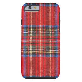 Red Plaid Tough iPhone 6 Case