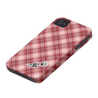 Red Plaid Trumpet iPhone 4 Cases