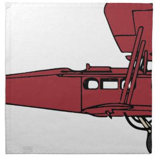 Red Plane Napkin
