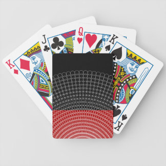 Red Planet Geometric Pattern Bicycle Playing Cards