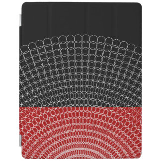 Red Planet Geometric Pattern iPad Cover