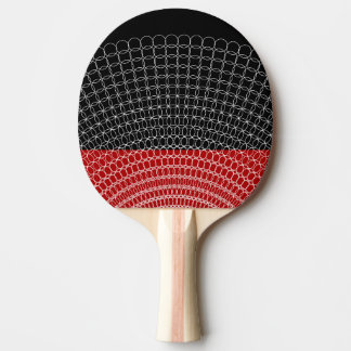 Red Planet Geometric Pattern Ping Pong Paddle