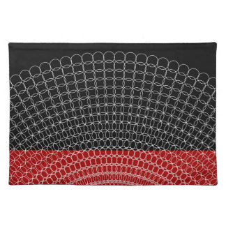 Red Planet Geometric Pattern Placemat