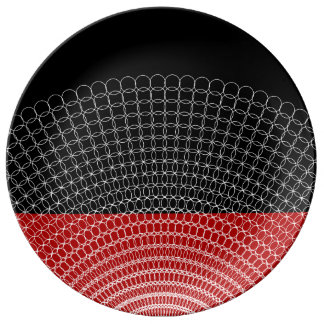 Red Planet Geometric Pattern Plate