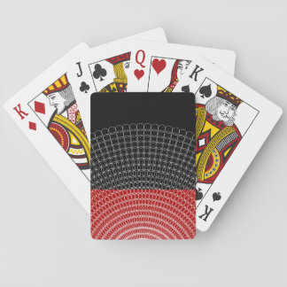 Red Planet Geometric Pattern Playing Cards