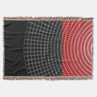 Red Planet Geometric Pattern Throw Blanket