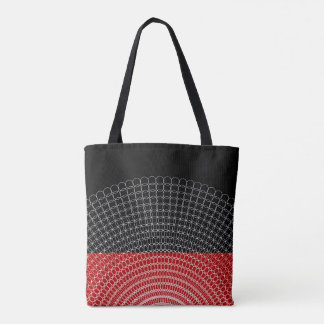 Red Planet Geometric Pattern Tote Bag