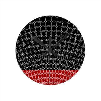 Red Planet Geometric Pattern Wallclock