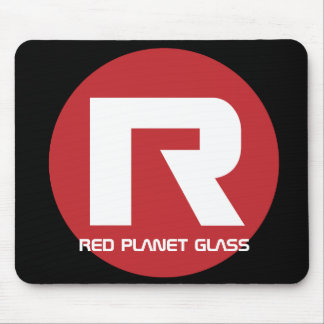Red Planet Glass Mousepad