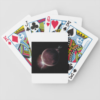 red planet in the universe with aura and stars bicycle playing cards