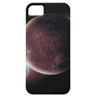red planet in the universe with aura and stars iPhone 5 case