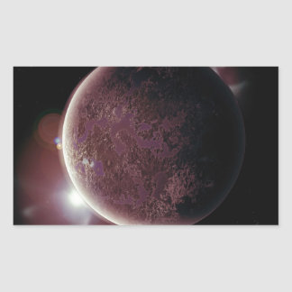 red planet in the universe with aura and stars sticker