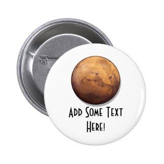 Red Planet Mars 2 Inch Round Button