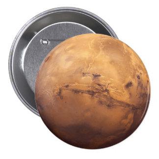 Red Planet Mars 3 Inch Round Button