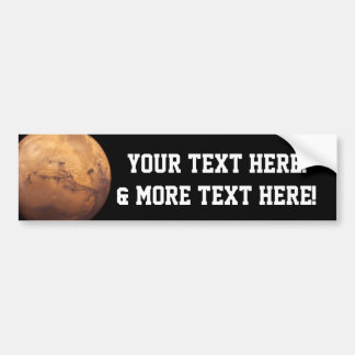 Red Planet Mars Bumper Sticker