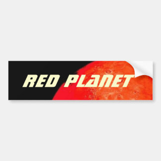 Red Planet Rising Bumper Sticker
