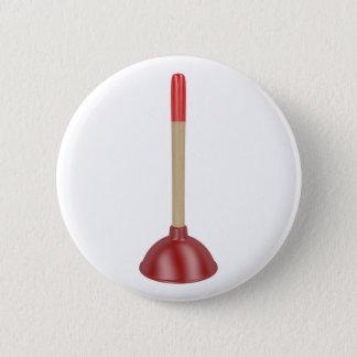 Red plunger 2 inch round button