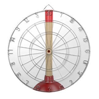 Red plunger dartboard