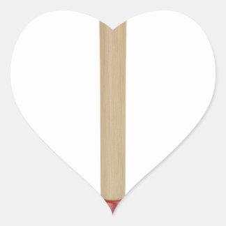 Red plunger heart sticker