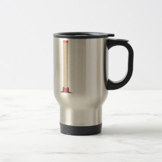 Red plunger travel mug