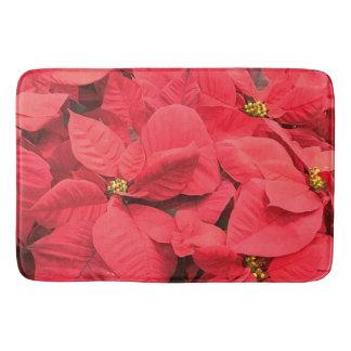 Red  Poinsettia Bath Mat