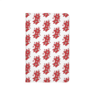 Red Poinsettia Christmas Pattern Journal