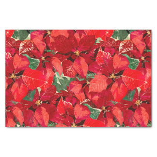 Red Poinsettia Christmas Tissue Paper