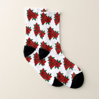 Red Poinsettia Socks 1