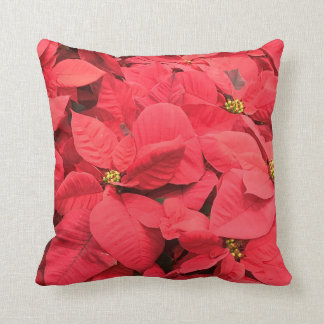 Red  Poinsettia Throw Pillow