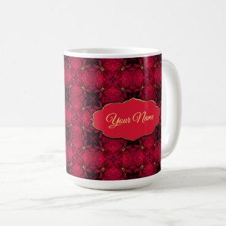 Red Poinsettias Abstract 3 Coffee Mug