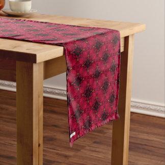 Red Poinsettias Abstract 3 Medium Table Runner
