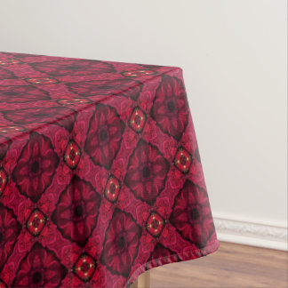 Red Poinsettias Abstract 9 Tablecloth