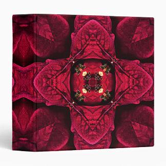 Red Poinsettias Abstract 9 Vinyl Binder
