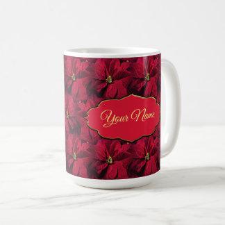 Red Poinsettias Coffee Mug