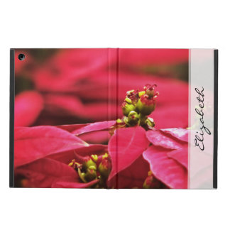 Red Poinsettias Flowers Cover For iPad Air