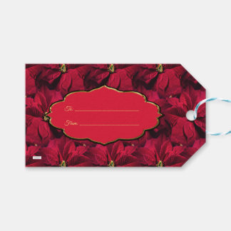 Red Poinsettias Gift Tags
